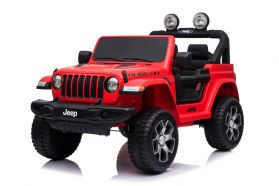 12V Jeep Rubicon 2 Places sous licence Rouge