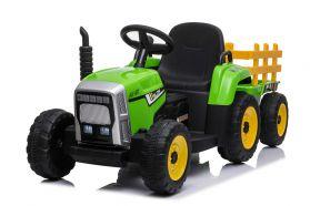 12V Tracteur avec remorque Vert – Tracteur Electrique Pour Enfants