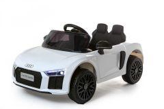 12V Audi R8 Spyder Blanc sous licence – Voiture Electrique Pour Enfants